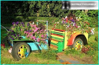 Original blomsterbed til at dekorere rekreativt område