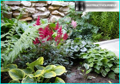 The harmonious arrangement of flowers with delicate and dense foliage