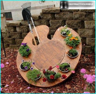 Blumenbeet-Palette für vertikale Gartenarbeit