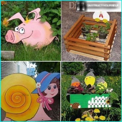 Options de décoration de jardin en contreplaqué