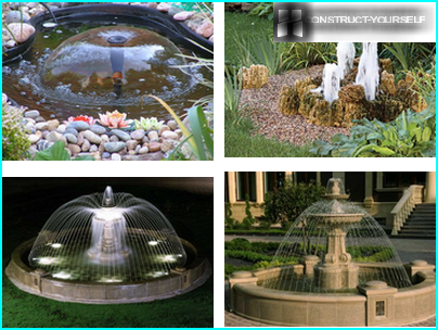 Fountains with nozzles