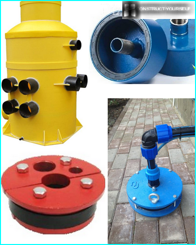Variety of extension arms to the well