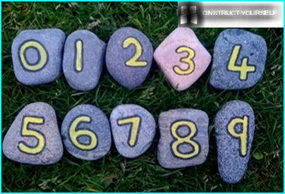 The numbers on the stones