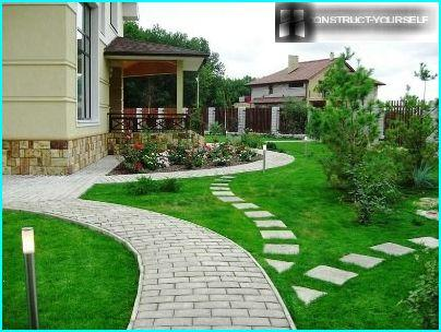 A path of paving slabs