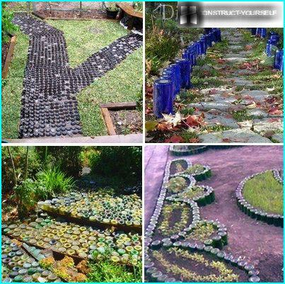 Beautiful walkway made of bottles