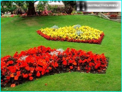 Simple flowerbed
