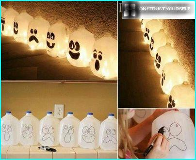 Fantômes de bouteilles en plastique