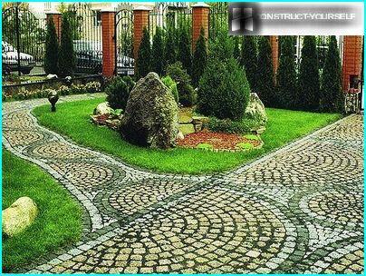 Bruģakmens dārza ceļš