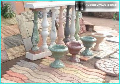 Elegant balusters made of concrete