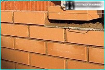 Korrekt placering af mursten i rækker
