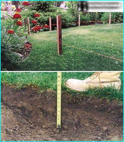 Vietnes marķēšana un augsnes virskārtas noņemšana un noņemšana