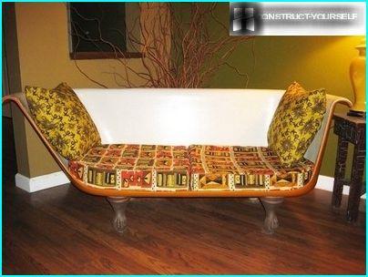 Canapé de la baignoire